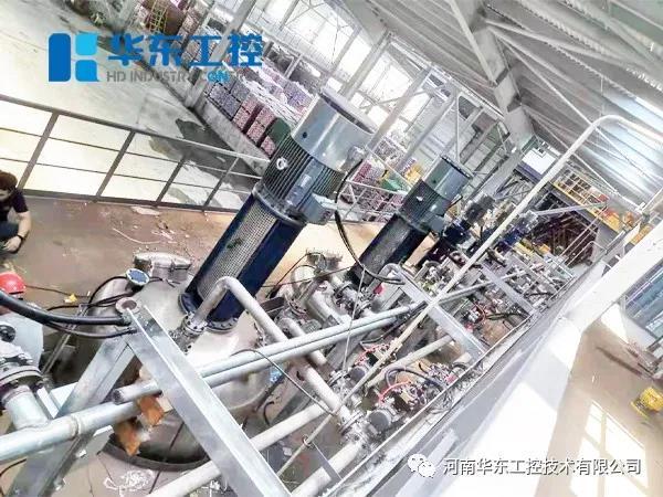 漯河市天山路泵站智能化配电及自动化控制系统现场工作图