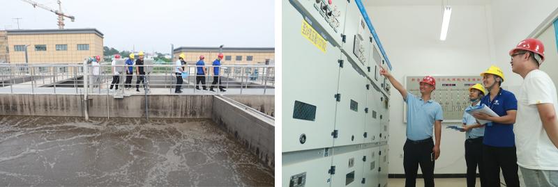 新密市洧水河污水处理厂项目验收照片