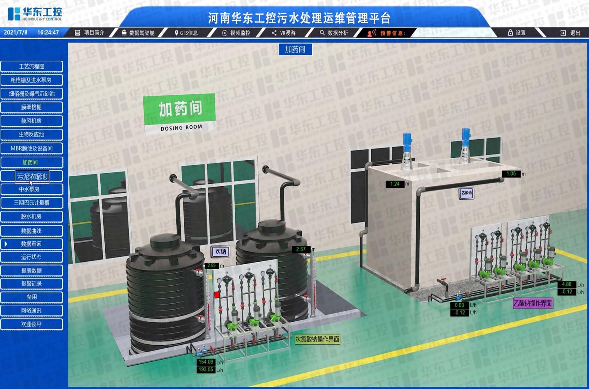 华东工控-污水处理厂集控平台