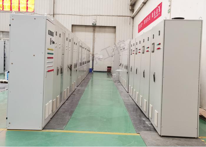 电气控制柜生产现场图