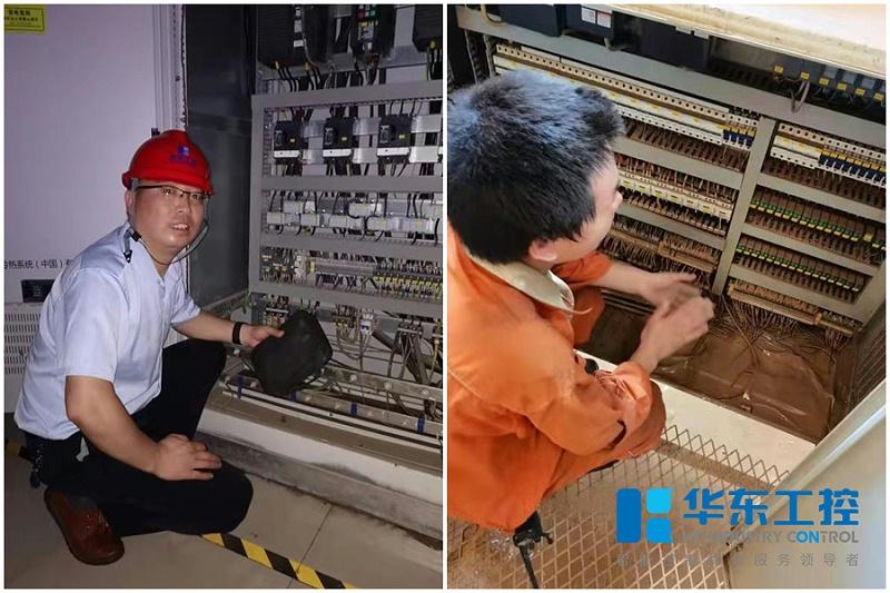 华东工控助力河南受灾企业恢复生产现场